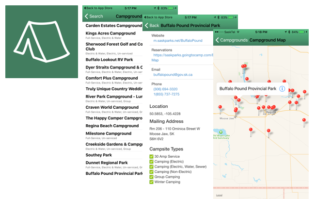 CampSask Mobile App
